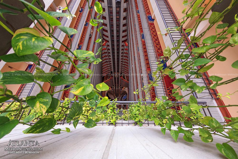 Dangling plants at Atlanta's Marriott Marquis