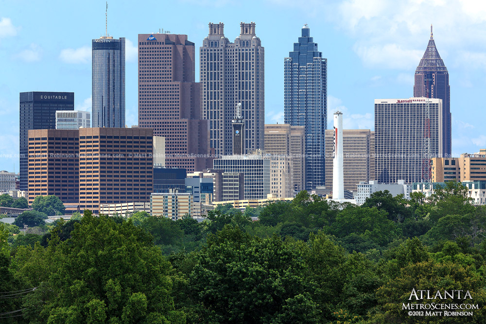 Atlanta Skyscrapers from Chosewood Park