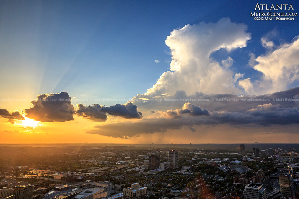Sunset anvil cloud over Atlanta