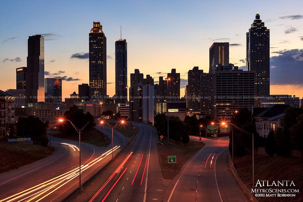 Atlanta skyline from the Old Fourth Ward