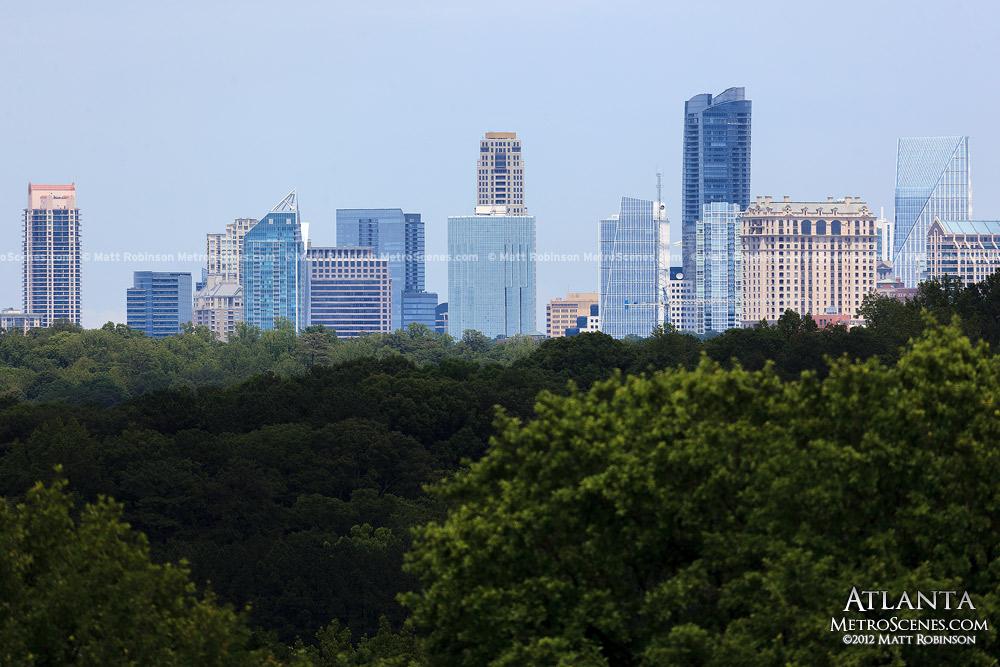 Atlanta Buckhead skyline from Crestlawn