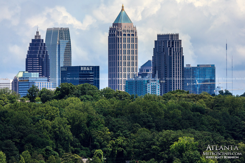 Midtown Atlanta rises over trees