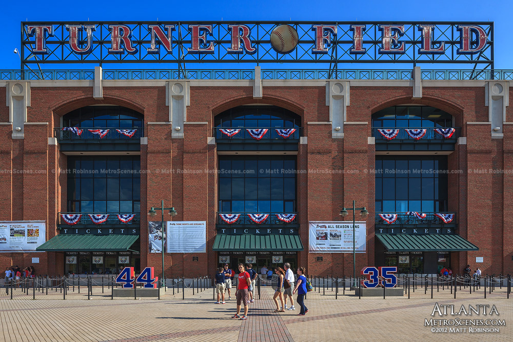 Turner Field sign and ticket windows
