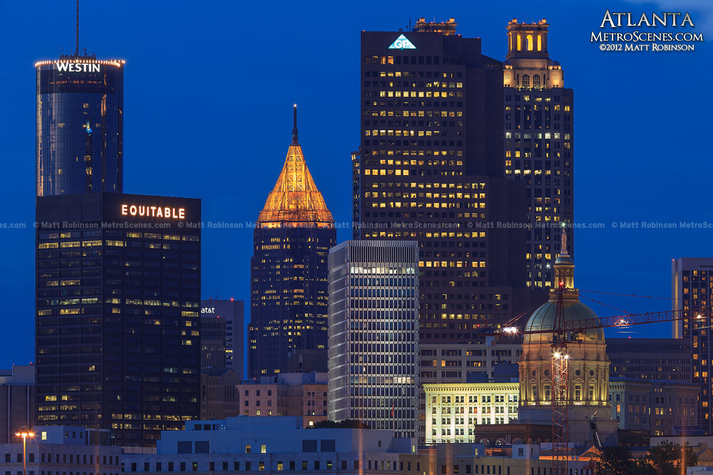 Atlanta Skyline at magic hour