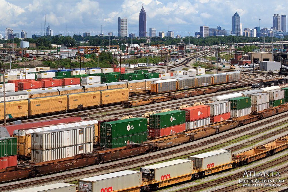 Railroad yard in Atlanta