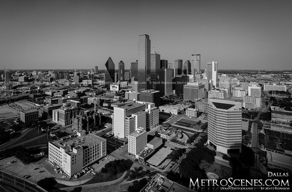 Dallas Skyline Black and White