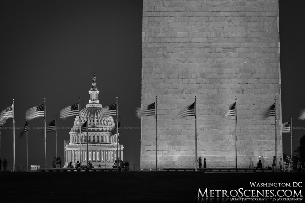 Washington DC Black and White