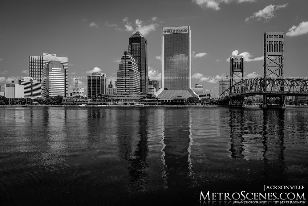 Jacksonville Skyline Black and White
