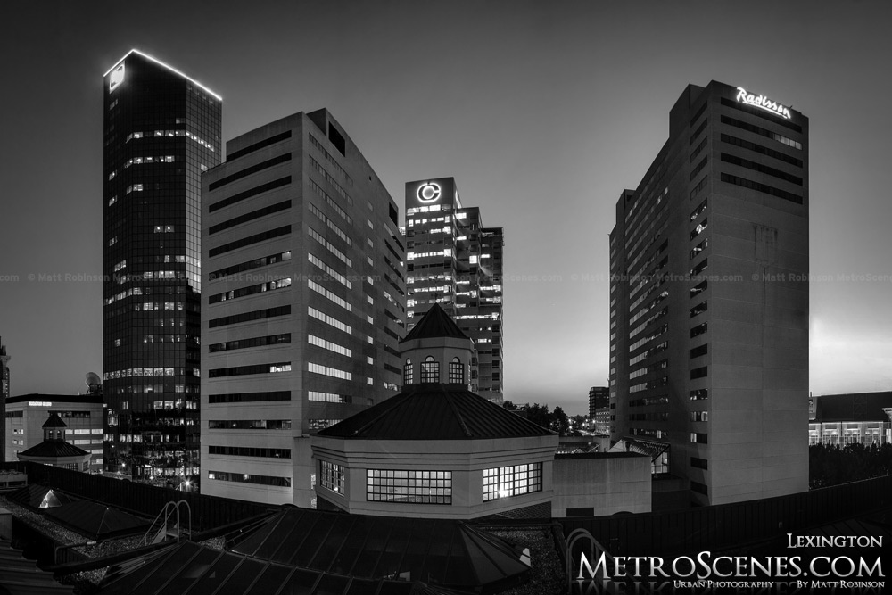 Black and White Lexington Skyline