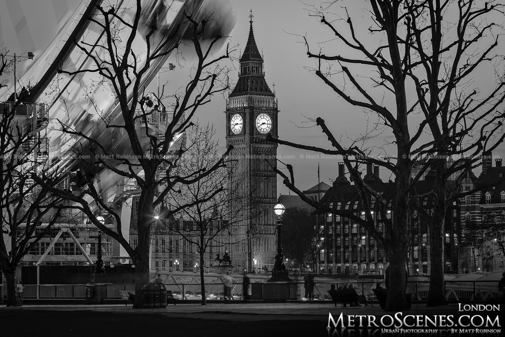 London Big Ben Black and White
