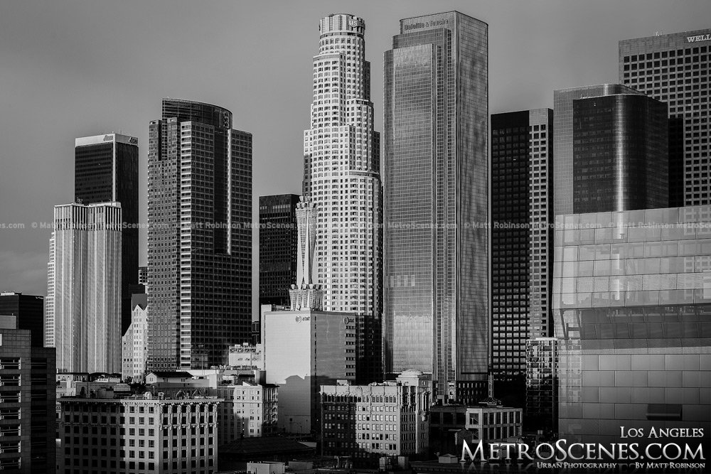 Black and White Los Angeles Skyline