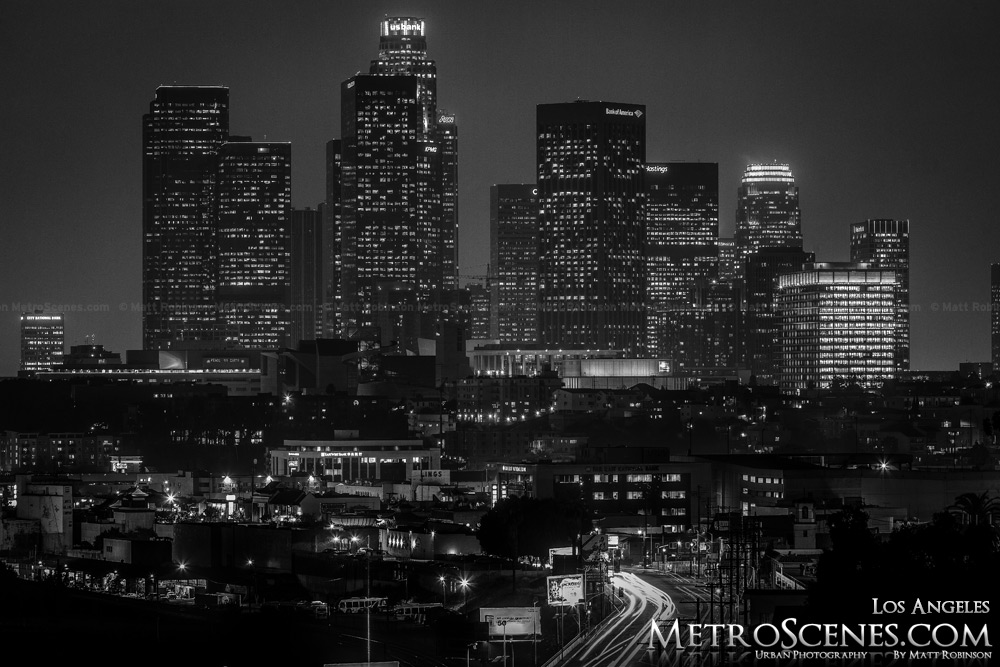 LA Skyline Black and White