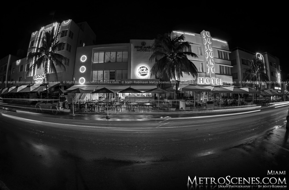 Hotel Colony South Beach Miami Black and White