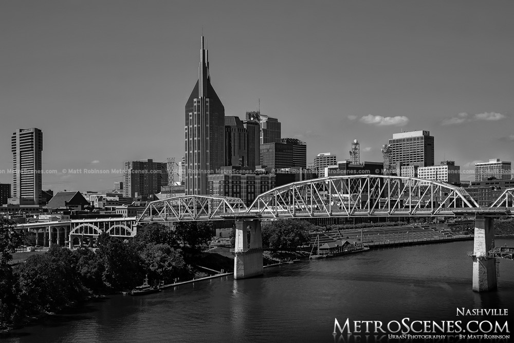 Nashville Skyline Black and White
