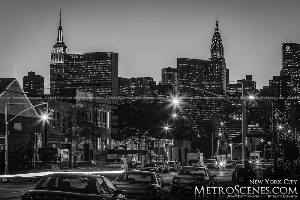 Chrysler Building and Empire State Building Black and White