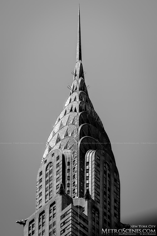 Black And White Chrysler Building Metroscenes Com Black And