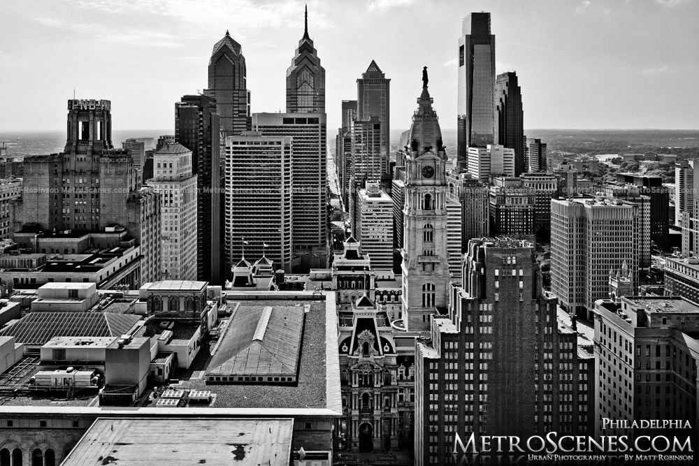 Philadelphia Skyline Black and White