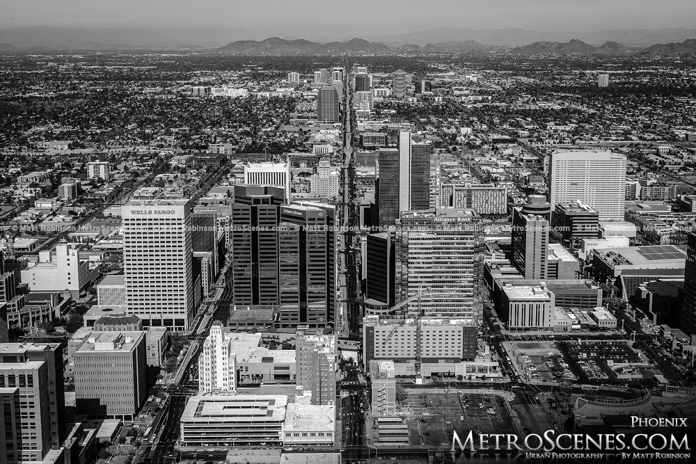 Phoenix Skyline Black and White