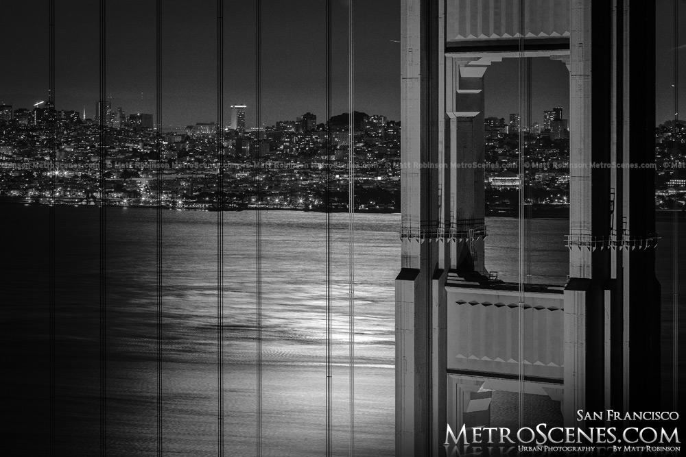 Golden Gate Bridge San Francisco Black and White