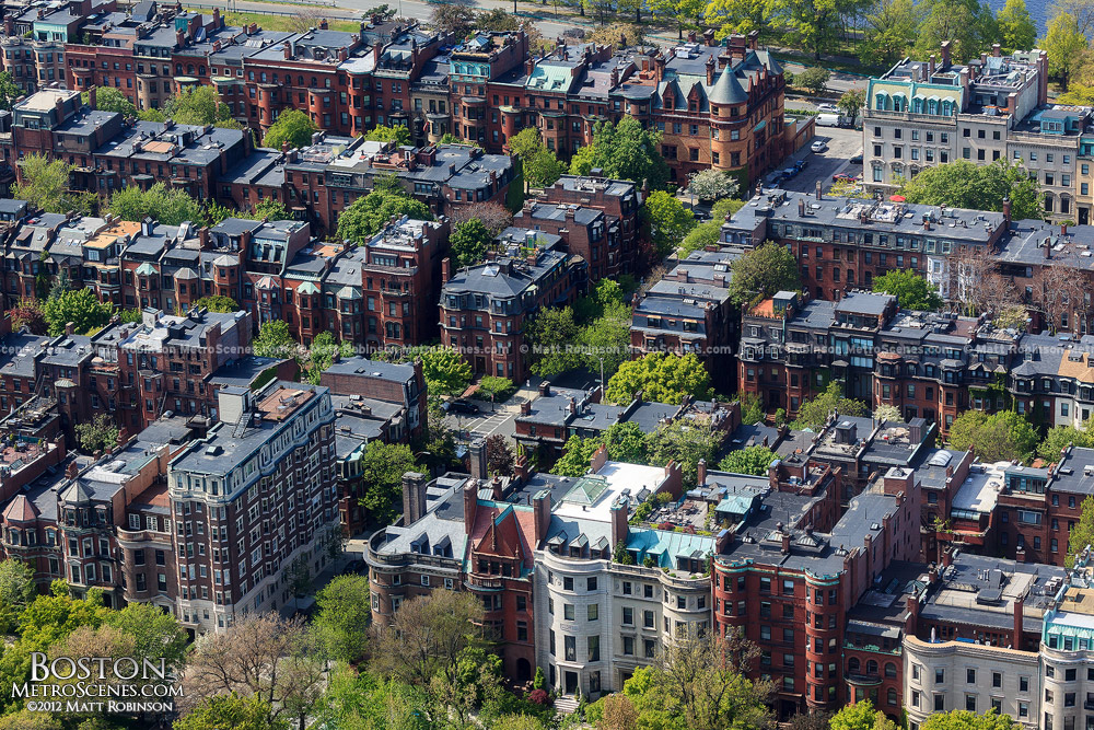 Aerial of Boston's Back Bay
