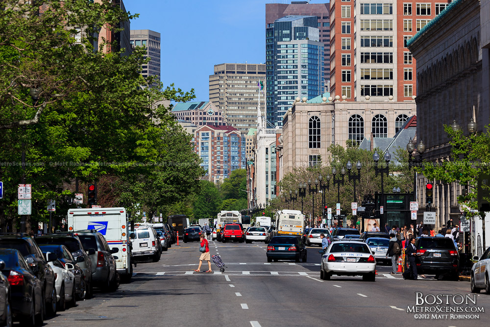 View down Boylston Street