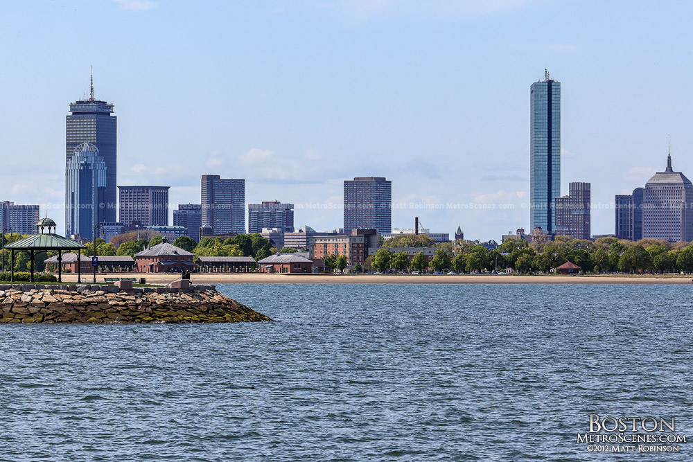 View of John Hancock and Prudential Center from the JFK Library