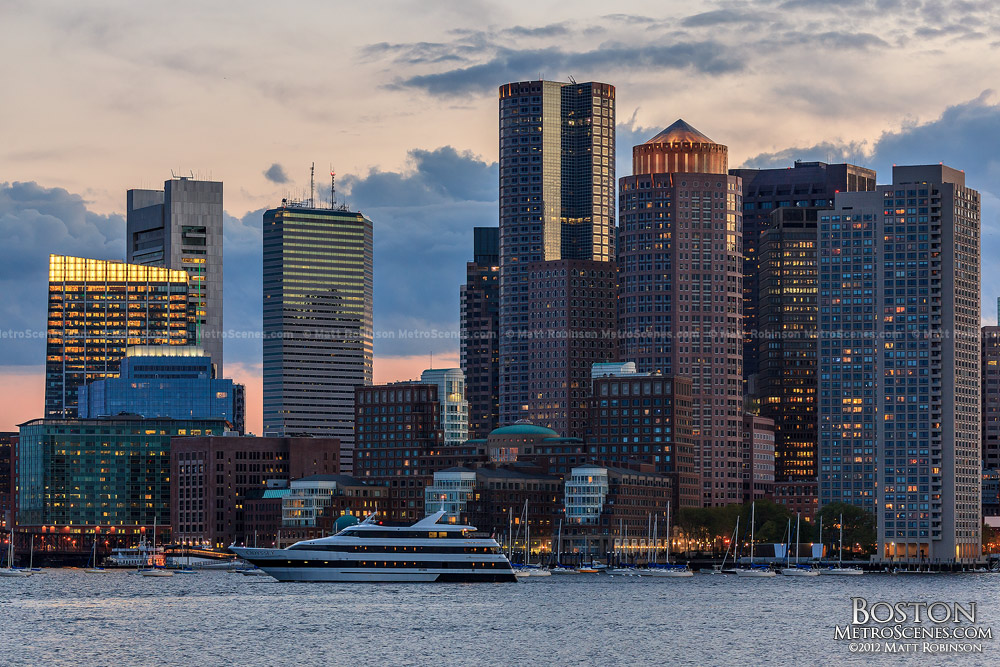 Boston Harbor with Skyline