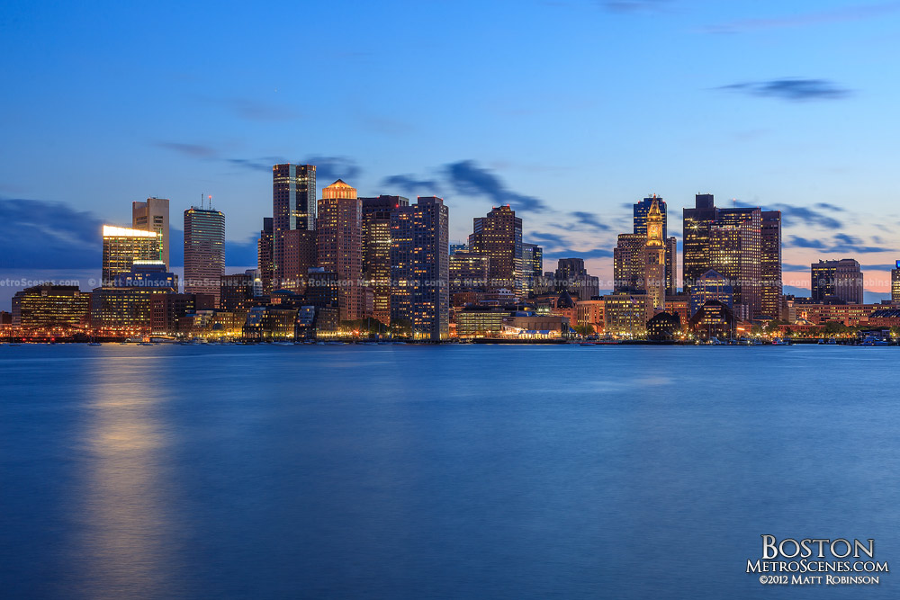 Skyline and Harbor from East Boston