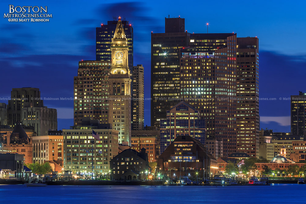 Boston Massachusetts Skyline at Magic Hour