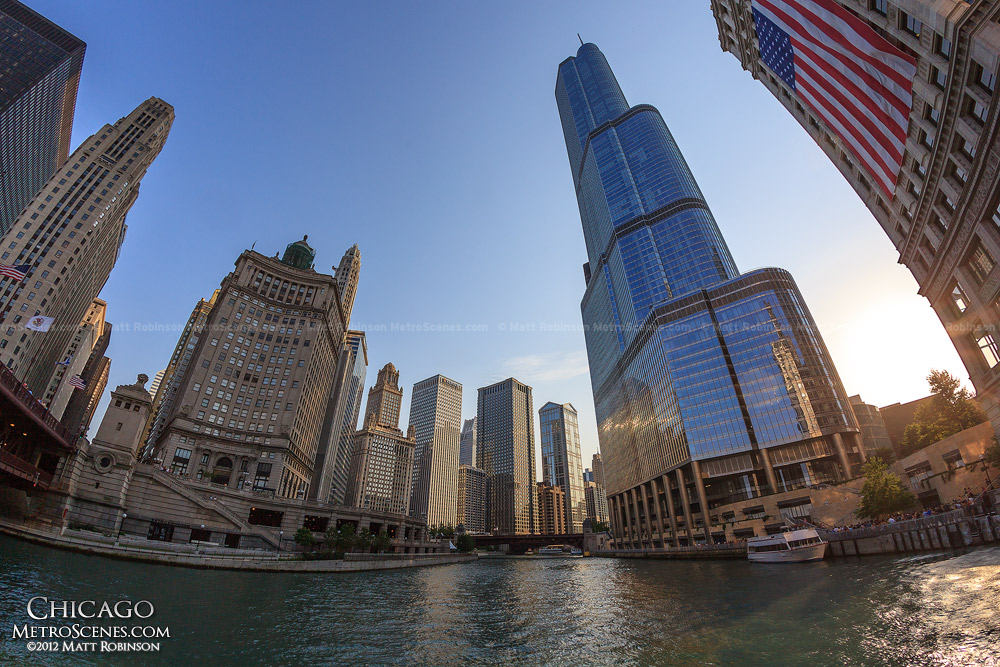 Trump International Hotel and Tower with Chicago River