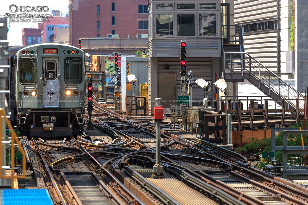 Elevated CTA Lines at Clark and Lake Station