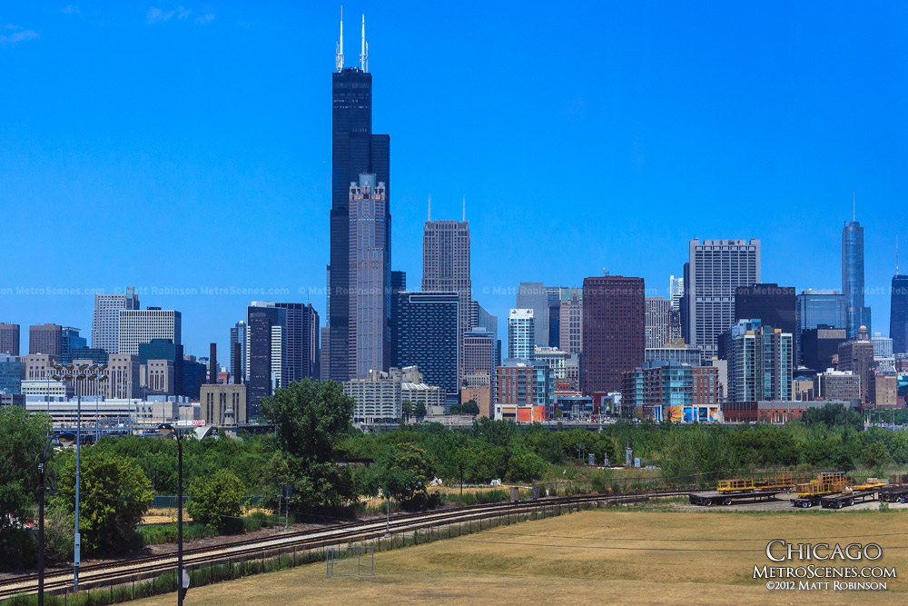 Sears Tower from the Orange Line