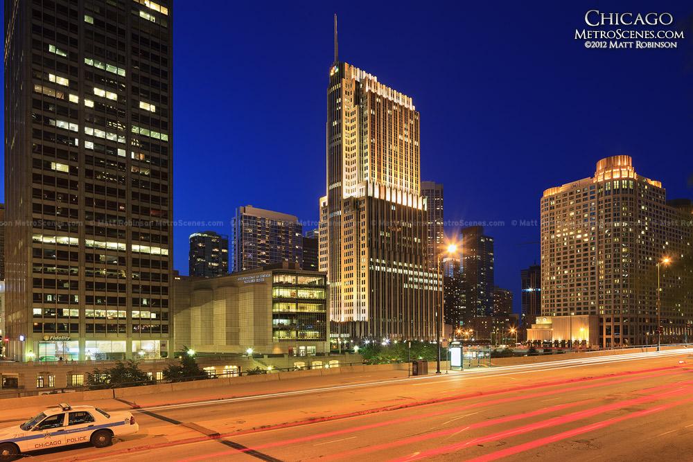 NBC Tower Chicago at night