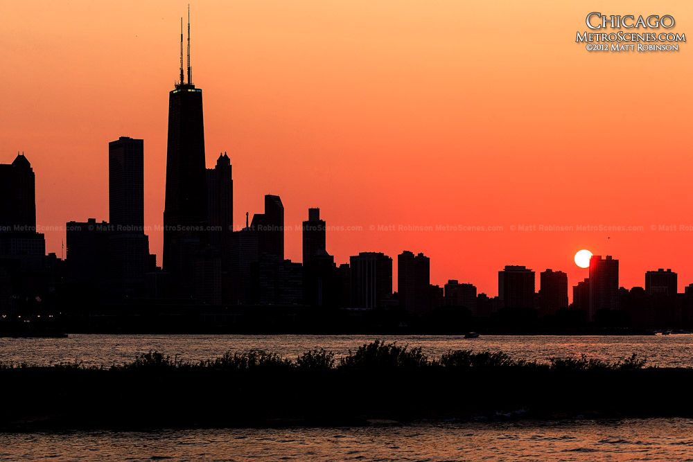 chicago skyline silhouette metroscenes com chicago illinois