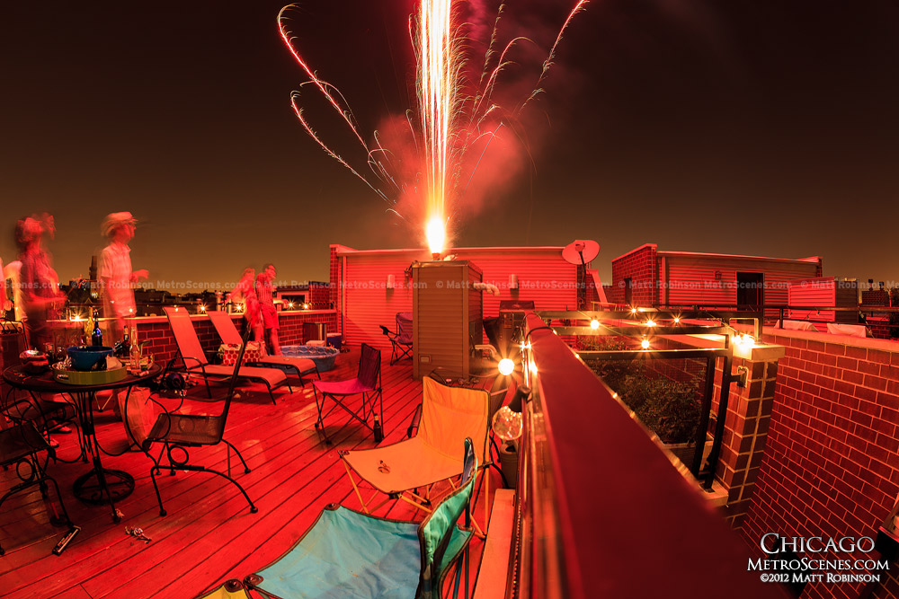 Independence Day from a local rooftop
