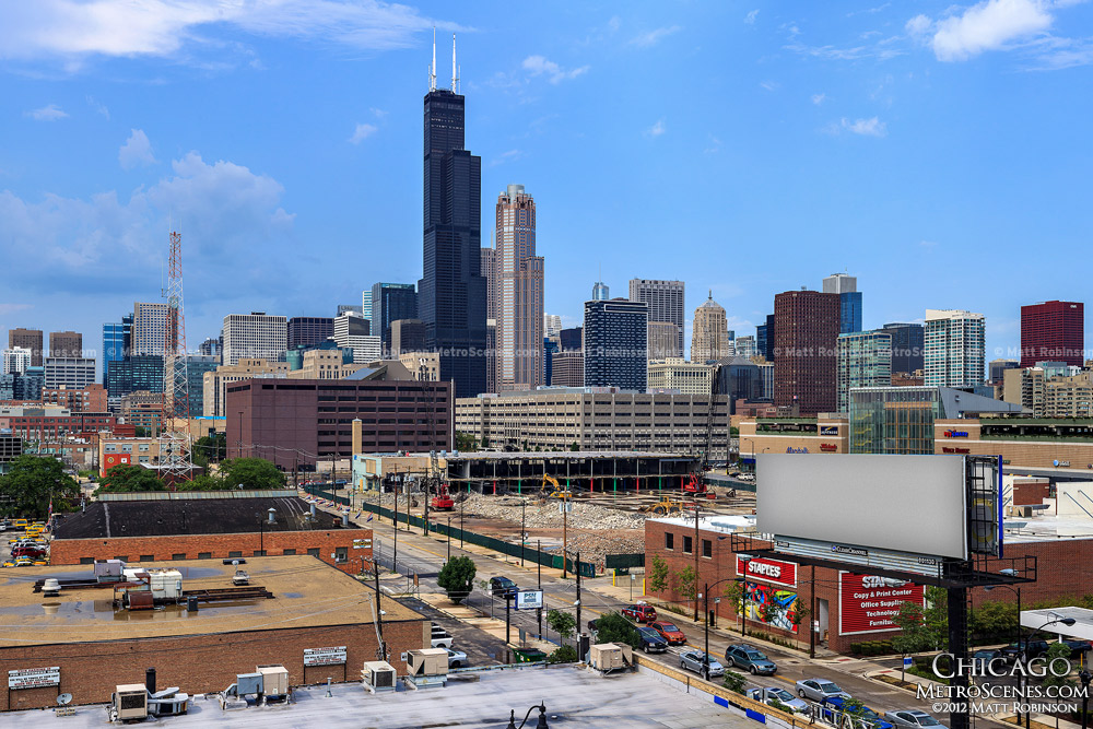 Willis Tower from Roosevelt Road