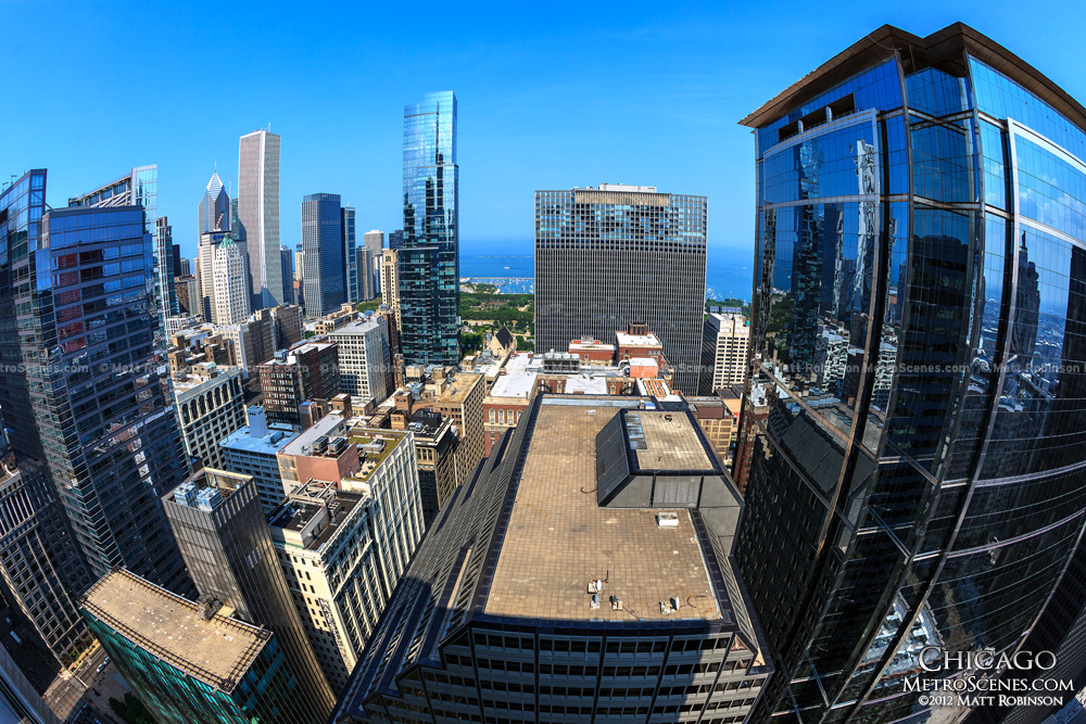 Rooftop view of Chicago