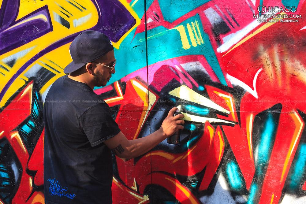 Graffiti Artist at West Fest