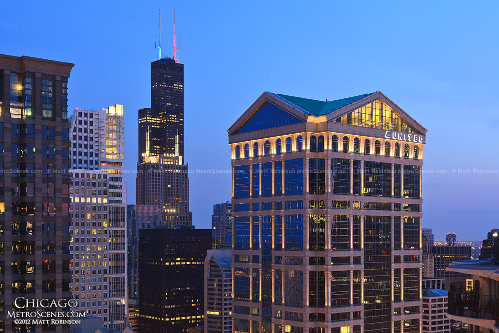 Sears tower and United Building from Marina City