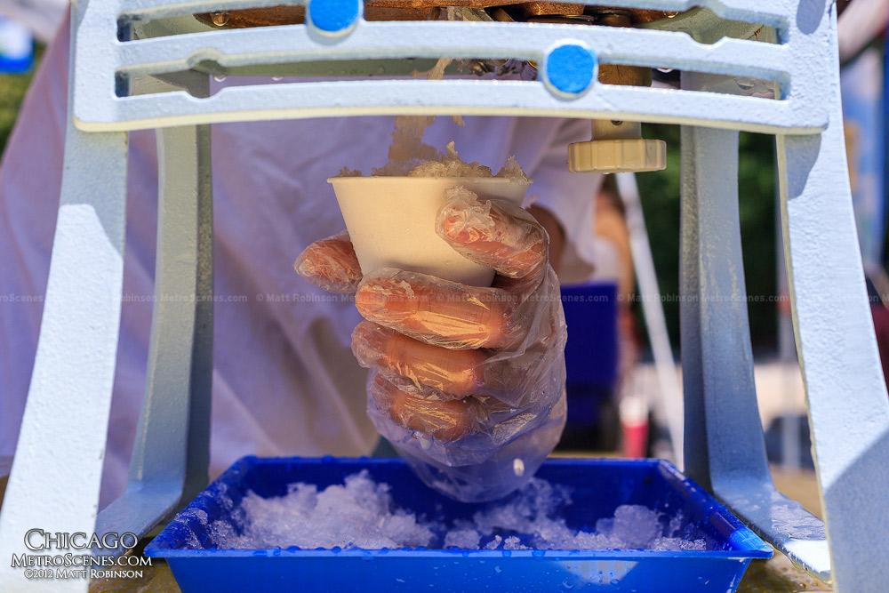 Jo Snow Cone with a Hatsuyuki Shaved Ice Machine