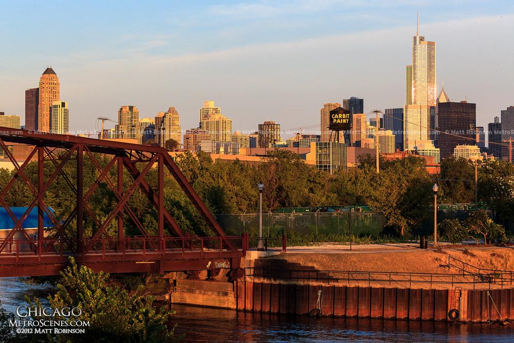 Chicago Skyline from North Avenue Bridge