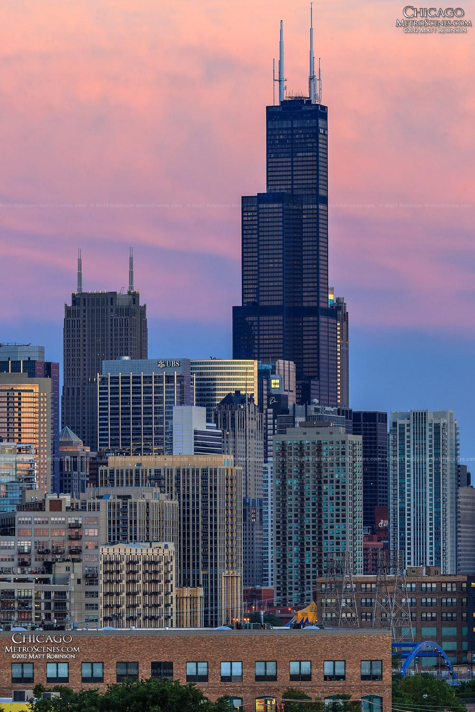 Willis Tower sunset