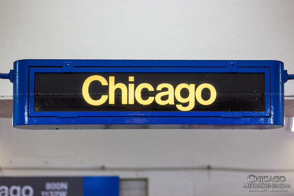 Chicago Blue Line sign