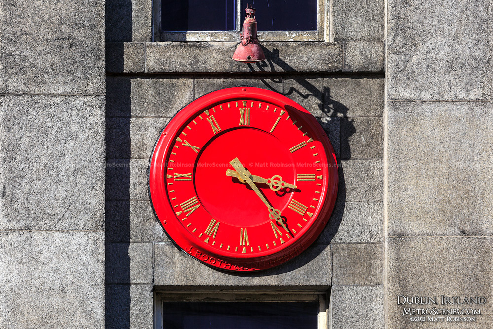 Red Clock face, Dublin