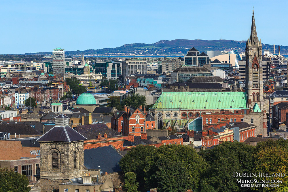 Dublin skyline from the Guinness Gravity Bar