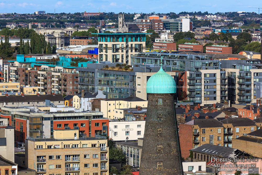 St Patrick's Tower from the Guinness Storehouse Gravity Bar