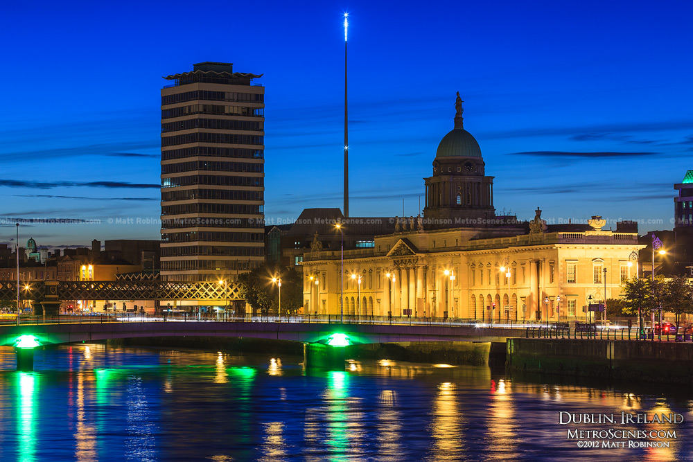 The skyline with the Dublin Spire