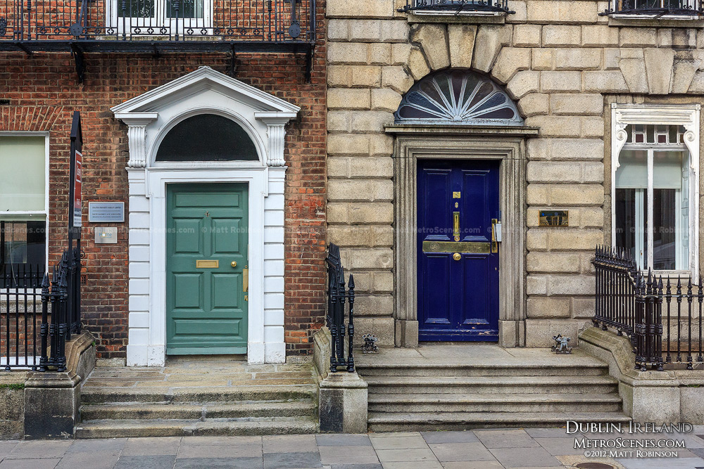 Green door and blue door - Dublin