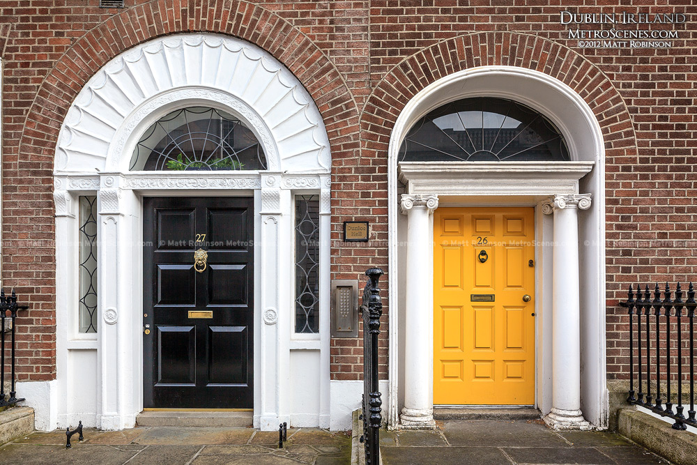 Black and Yellow Dublin Doors