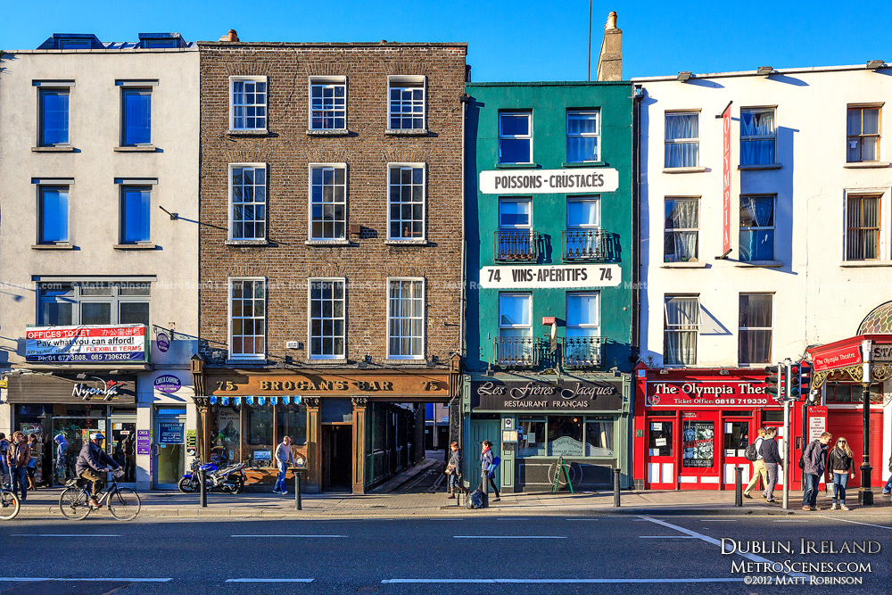 Colorful Dublin buildings